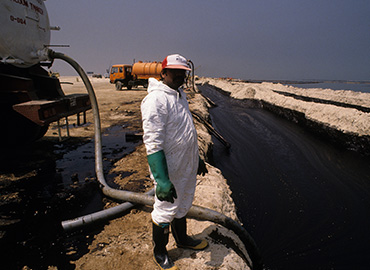 Land Oil Spill Cleanup